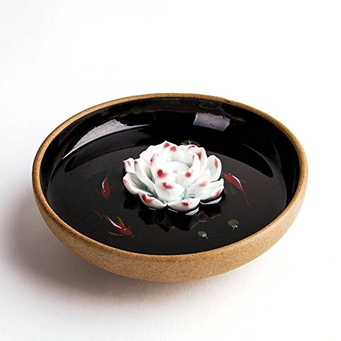 会話彫刻家アルミニウムお香立て お香たて 香の器 お香を焚いて 香皿,陶磁器、黒