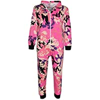 Kids Girls Boys Camouflage Baby Pink Print A2Z Onesie One Piece Jumpsuit 5-13 Yr