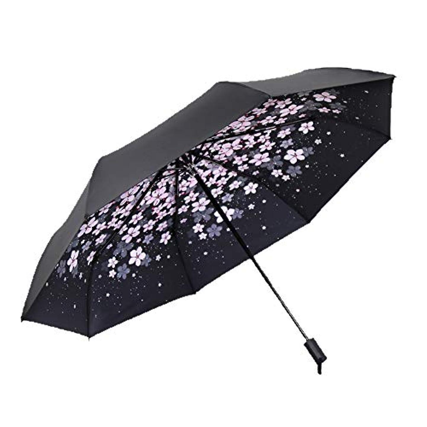 身元リラックスポジション傘の男性と女性の雨と雨のデュアルユースマニュアル三つ折り傘