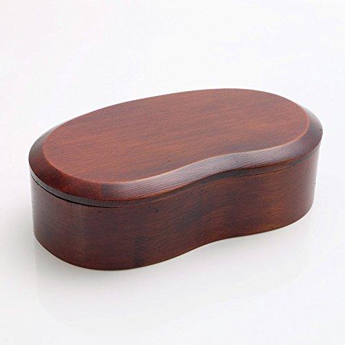 天然木製 くりぬき そらまめ弁当箱 漆塗り