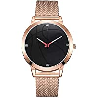 Niome Men's Casual and Business Series Mesh Belt Quartz Wristwatches