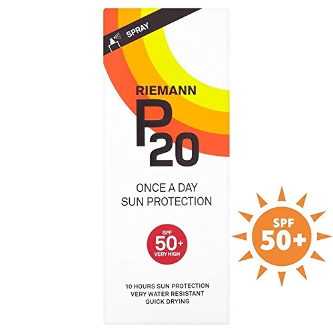 Riemann P20 SPF50+ 1 Day/10 Hour Protection 200ml (Pack of 6) - リーマン20の50 + 1日/ 10時間の保護200ミリリットル x6 [並行輸入品]