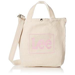 [リー]ショルダーバッグ Lee BOXロゴプリント コットンキャンバス(帆布) 2WAYトートバッグ ピンク