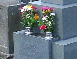 お墓の花立て用 ステンレス花筒ツバ付き Φ44落とし込み 2個(1対)