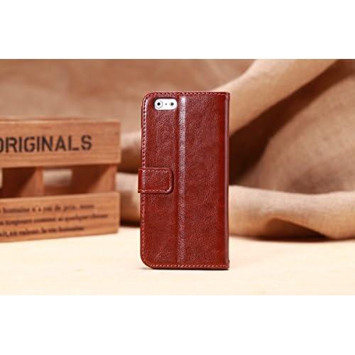 【ノーブランド品】 iPhone6ケース 手帳型 4.7inch 純正Brownストラップ、液晶保護シート付
