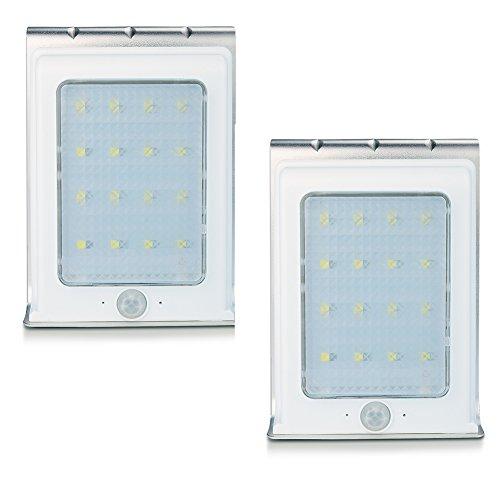 Uniquefire 【2点セット】 ソーラー充電式LEDライト 16個LED電球 センサー搭載 ア...