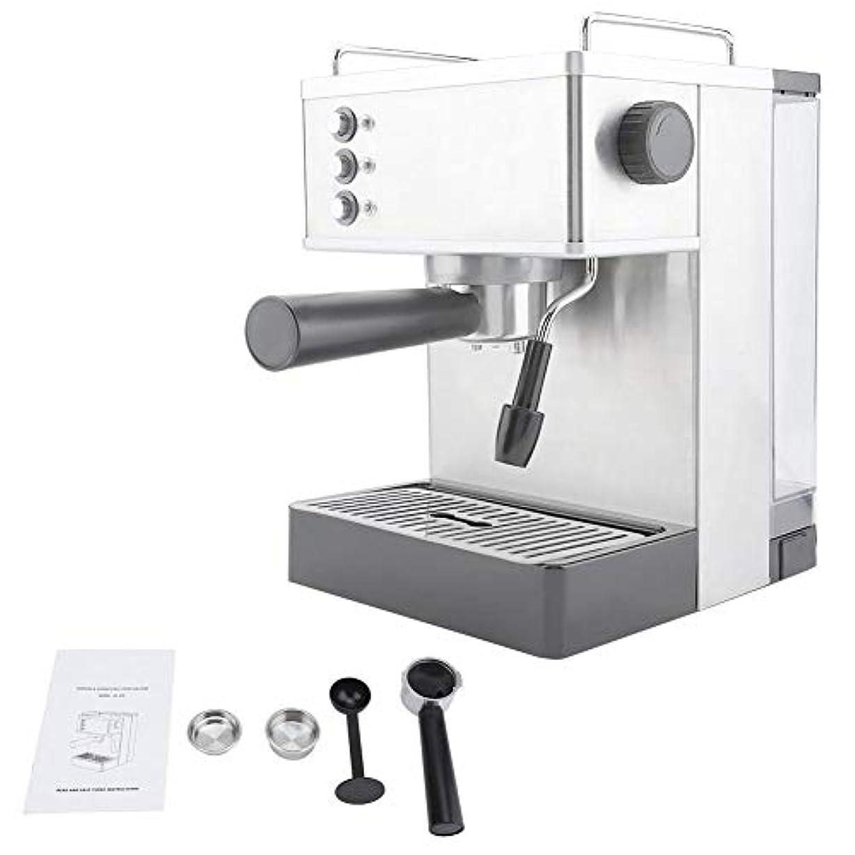 シンプトン暗殺怠感コーヒーマシン、ステンレススチールエスプレッソコーヒーマシンコーヒーメーカー高圧イタリアポンプ(US Plug)