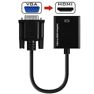 Lexsong VGA to HDMI変換 ビデオプロジェクター ディスプレイ 解像度1920 * 1080P