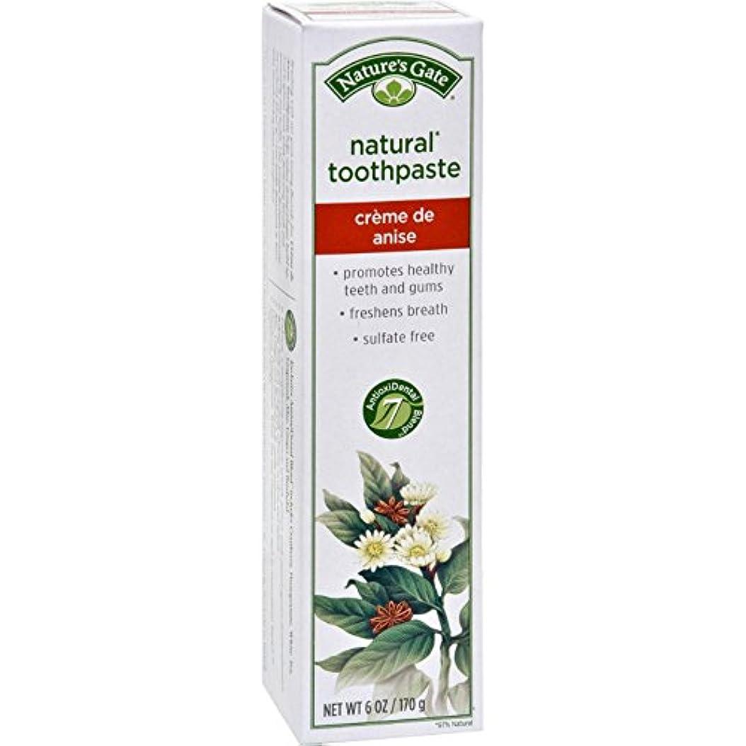 泣くうなり声子供っぽい海外直送品Toothpaste Creme De, Anise 6 Oz by Nature's Gate