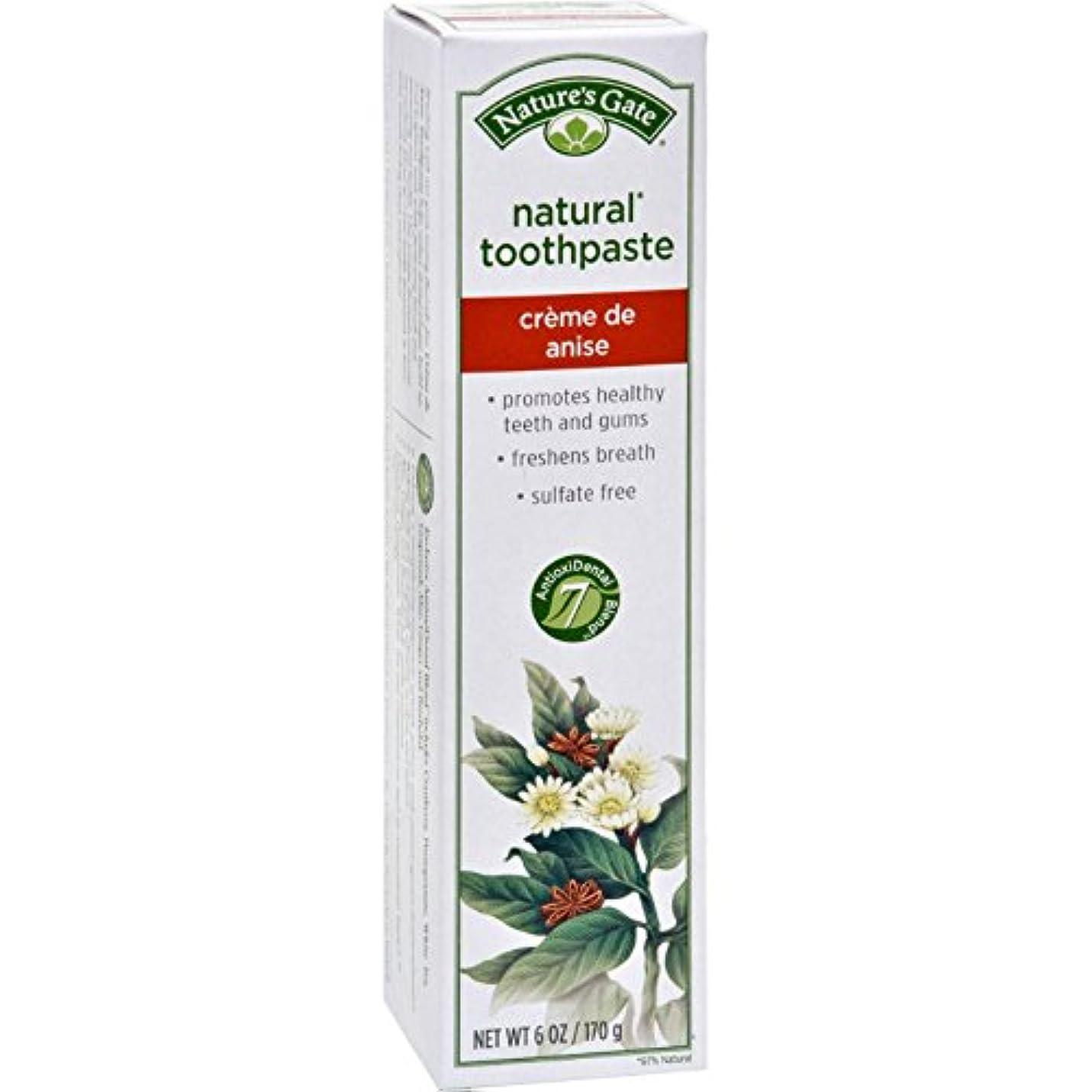 バクテリア勤勉なスラム海外直送品Toothpaste Creme De, Anise 6 Oz by Nature's Gate