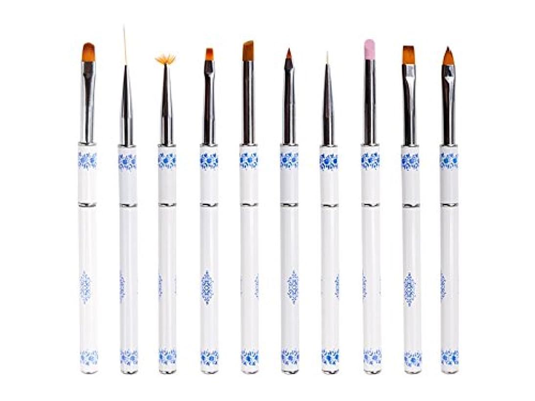 ようこそシンクアルプスOsize ネイル光線療法クリスタルペンセット青と白の磁器ネイルペン引っ張りペンネイルアート塗装ネイルラインペン