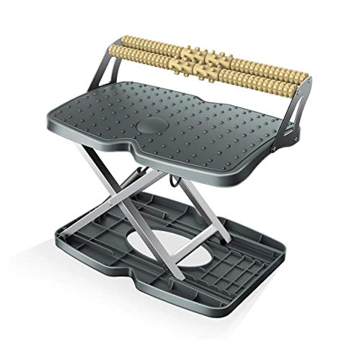 橋脚顧問性的調節可能なフットレスト - 座るための人間工学的ソリューション、机の下の足置き、高さと角度の調節可能な足置き、旅行やオフィスでのマッサージ
