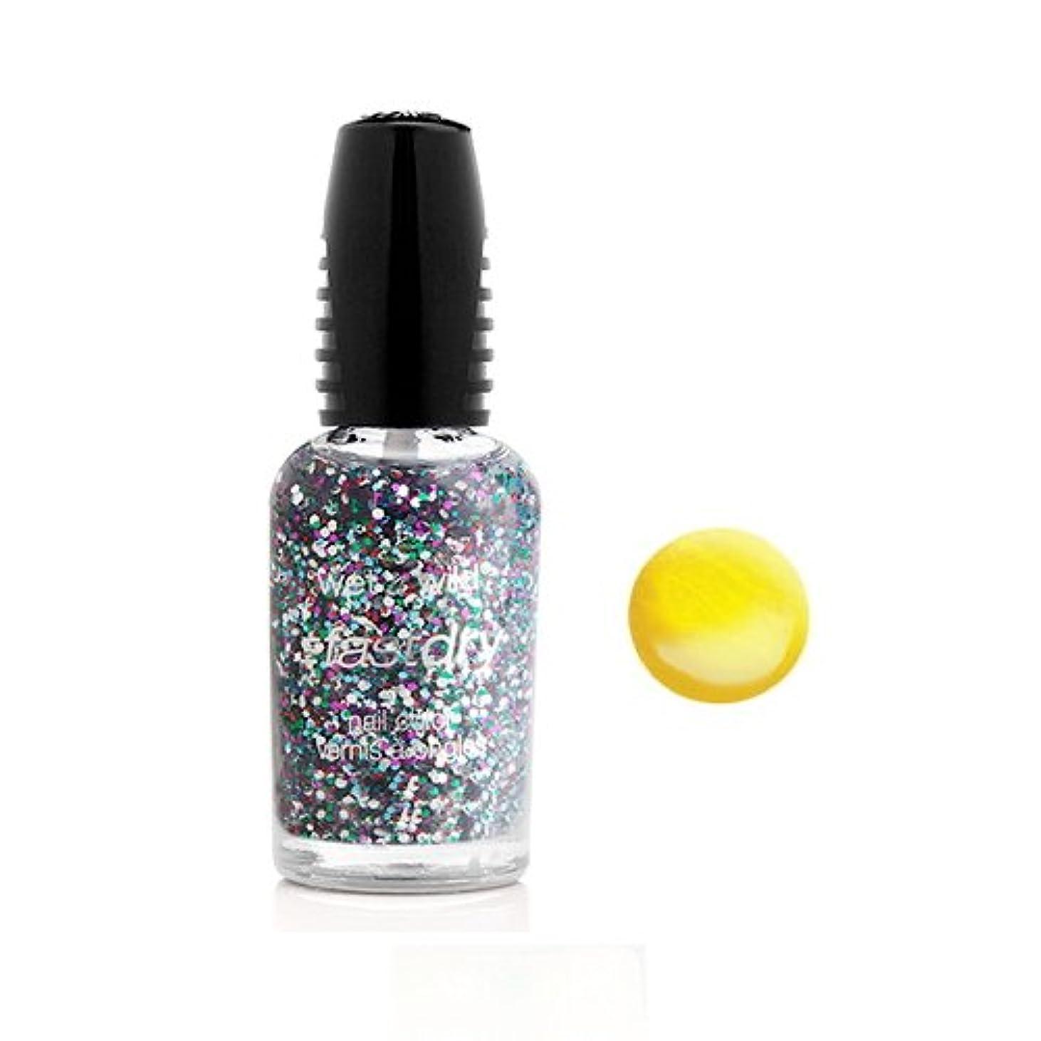 住所設置ストレス(6 Pack) WET N WILD Fastdry Nail Color - The Wonder Yellow (DC) (並行輸入品)