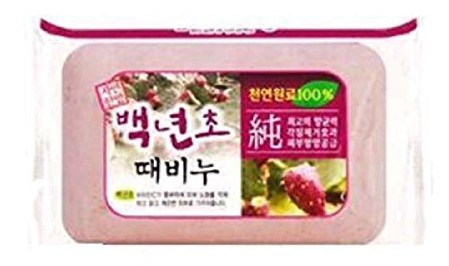 確認唯一良心的人気の百年草のアカスリ石ケン 1個で900円、韓国本場の業務用アカスリせっけん、