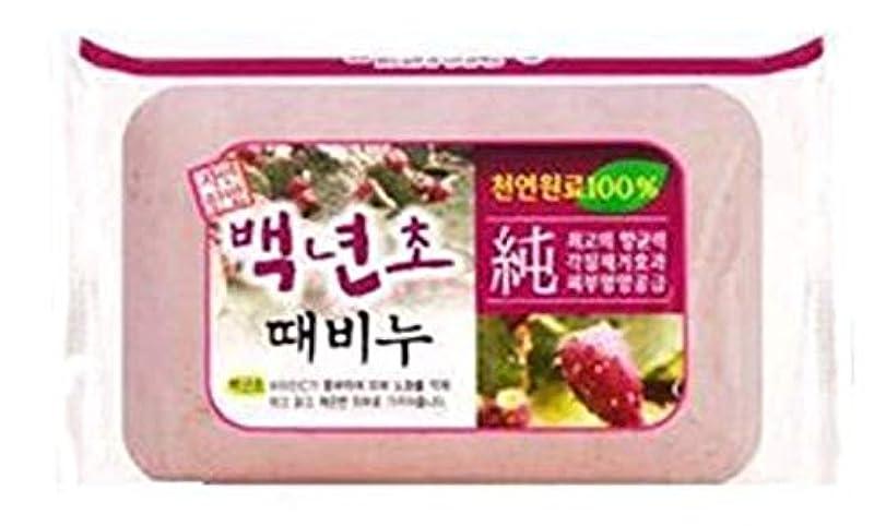 統合検査官明快人気の百年草のアカスリ石ケン 1個で900円、韓国本場の業務用アカスリせっけん、