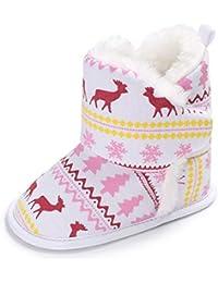 サクララ(Sakulala) ブーツ ボーイズ ガールズ スノーブーツ 秋冬 ベビー クリスマスプレゼント もこもこ 可愛い クリスマスプレゼント 暖かい マジックテープ付き クリスマスツリー柄