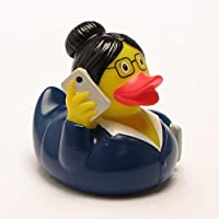 DUCKSHOP | Business Woman Rubber Duck | Bathduck ゴム製のアヒル| L: 8,5 cm