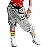 (ハニー) Hanixx ユニセックス ダンサー パンツ メンズ レディース ダンス の 衣装 や トレーニング ウェア や 部屋着 にも (グレー M)