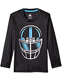 (アディダス) adidas キッズTシャツ Long Sleeve Defense Helmet Tee (Toddler/Little Kids) Adi Black 7 Little Kids (7歳) One Size