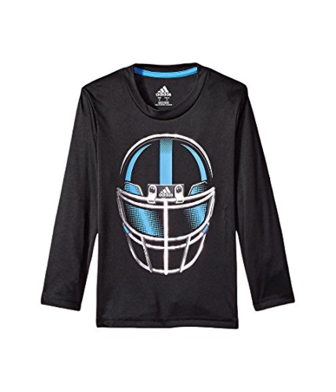 (アディダス) adidas キッズTシャツ Long Sleeve Defense Helmet Tee (Toddler/Little Kids) Adi Black 3T Toddler (2-3歳) One Size