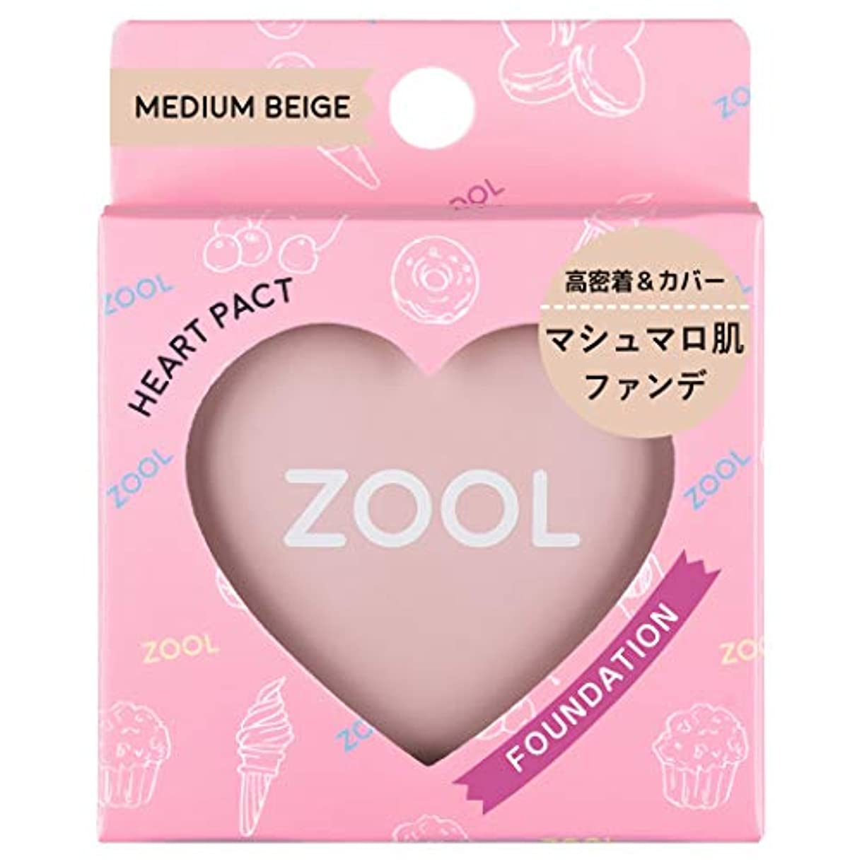 セットアップ掃く自動化ZOOL (ズール) ハートパクト ミディアムベージュ (ファンデ) (1個)