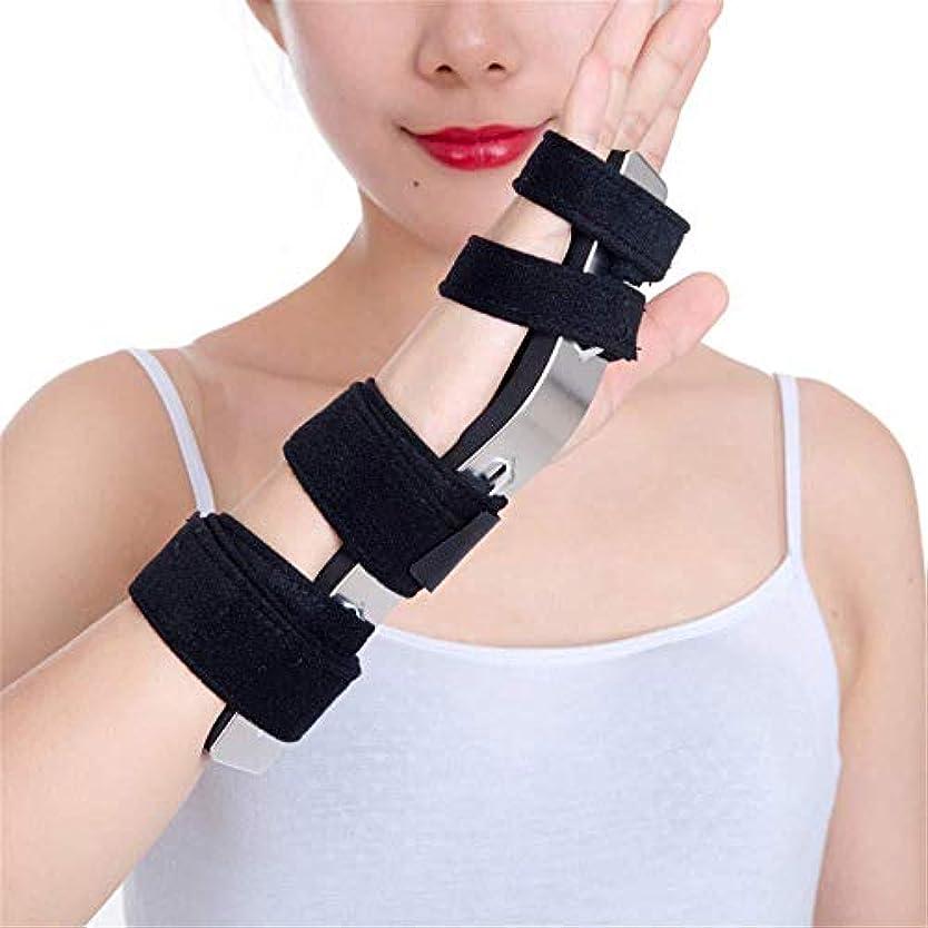 シダ変化する粘り強いトリガーフィンガースプリント、ニュートラル関節炎の親指手首サポート、右手と左手用のトリガーフィンガー