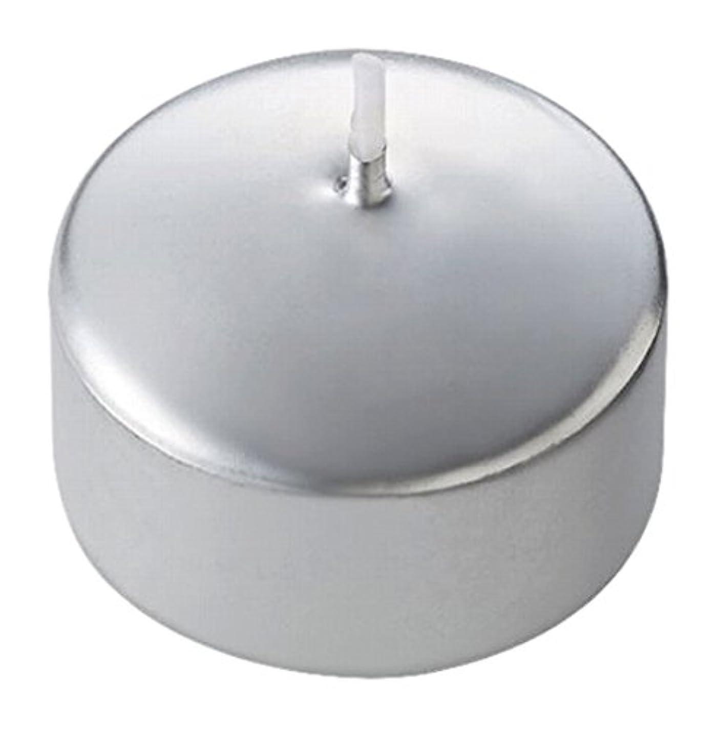 暗くするバター環境に優しいキャンドル ハッピープール(カラーアトリエ) 「 シルバー 」 24個入り 72800100SI