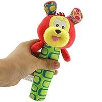 HuaQingPiJu-JP 漫画動物のぬいぐるみは、赤ちゃんの遊び玩具発達玩具(犬)