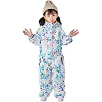 Little Kid's Ski Suit Siamese, One Piece Boys Girls Snowsuit Jumpsuits Winter Outdoor Warm