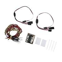 Fityle LEDライト ヘッドライト 制御システム付き 1/10クライミングクローラー用