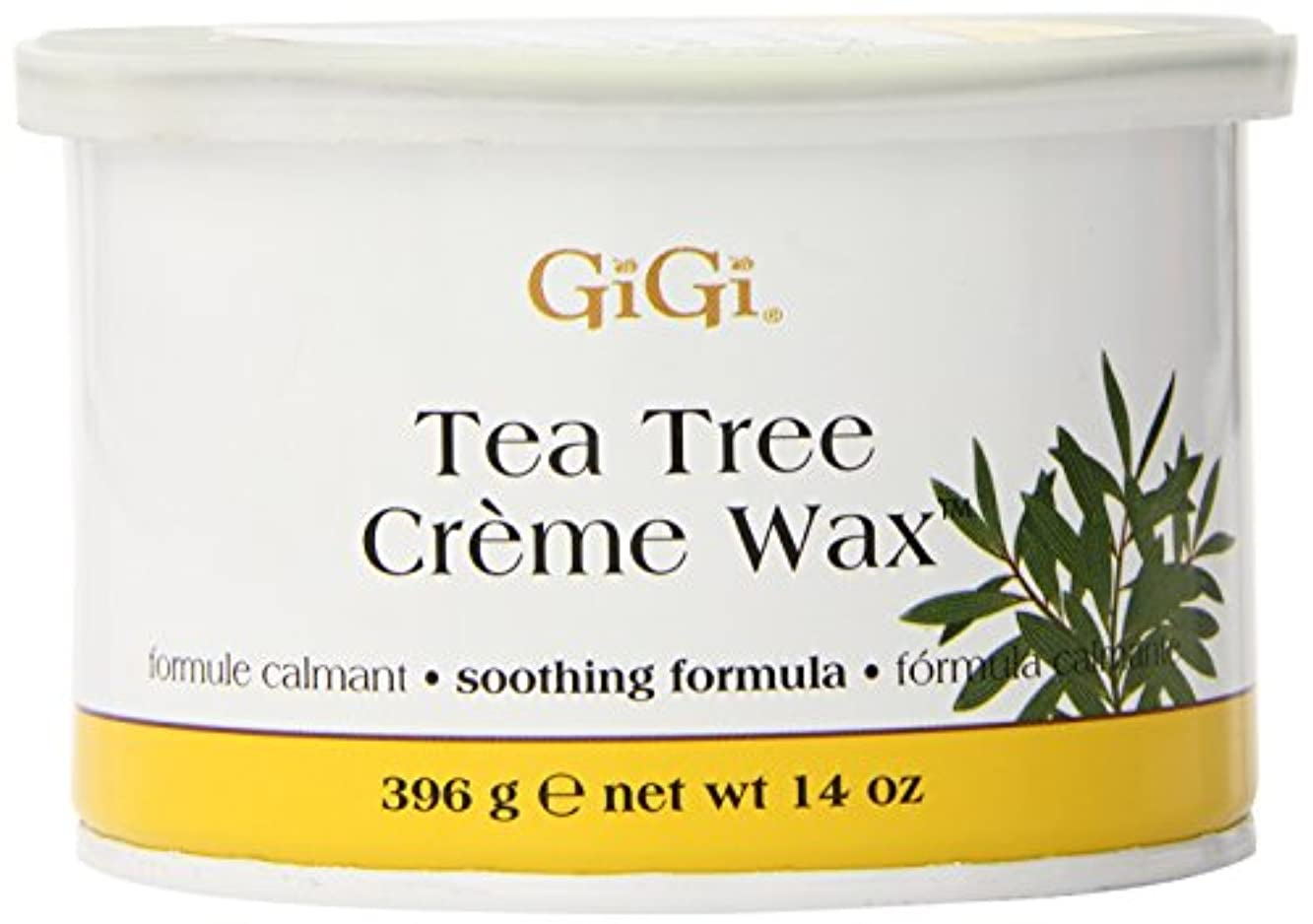 喜劇ブラケット暗黙GiGi Tea Tree Cream Wax A Soothing Hair Removal Formula 396g