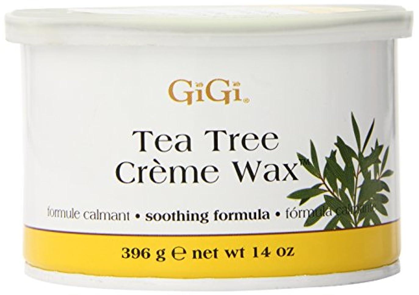 浅いストリップ祝福GiGi Tea Tree Cream Wax A Soothing Hair Removal Formula 396g