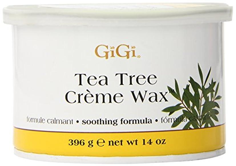 チャンス乗り出すオリエントGiGi Tea Tree Cream Wax A Soothing Hair Removal Formula 396g