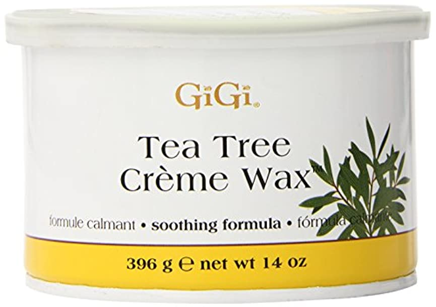 パニックペルセウス貸し手GiGi Tea Tree Cream Wax A Soothing Hair Removal Formula 396g