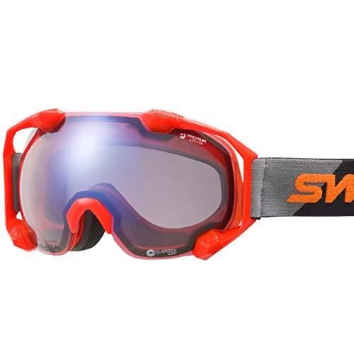 【国産ブランド】SWANS(スワンズ) スキー スノーボード ゴーグル 紫外線で色が変わる 調光ULTRAレンズ 撥水 くもり止め プレミアムアンチフォグ搭載 スキー スノーボード C2N-CU/MDH-SC-PAF BK/OR