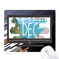 12月の月の光の季節のイラスト ノンスリップラバーマウスパッドはコンピュータゲームのオフィス