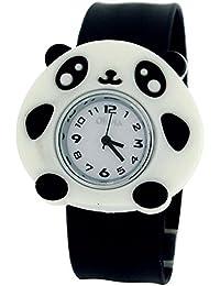 Toc KidsアナログホワイトダイヤルPanda Bear OnブラックSLAP WATCH toc163
