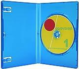 オーバルマルチメディア 日本製 15mm厚1枚収納DVDトールケース ロゴ有 ブルー 10個アマゾン配送