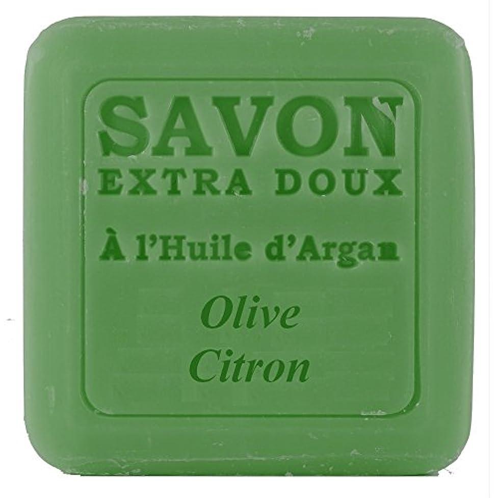 余暇見分ける滑りやすいPlantes&Parfums [プランツ&パルファム] アルガンオイルソープ100g オリーブレモン