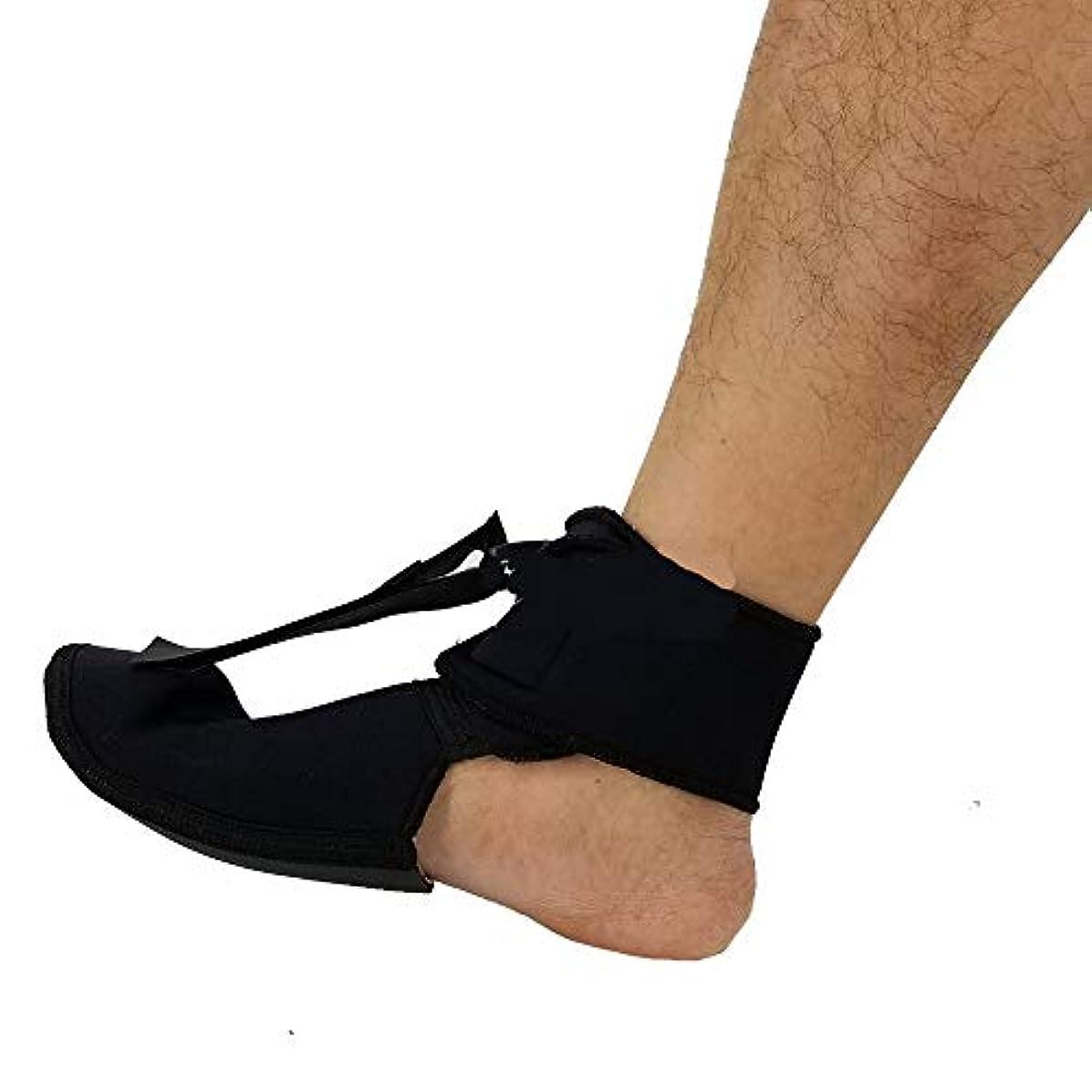 破産気球気分が良い足底筋膜炎ナイトソックス、睡眠用ソフトストレッチブーツスプリント、アキレス腱炎フットサポートブレース&ヒールコンプレッションスリーブ,M