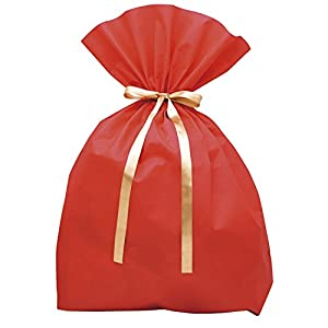 タカ印 ラッピング 袋 超BIG ソフトバッグ 赤 50-3951