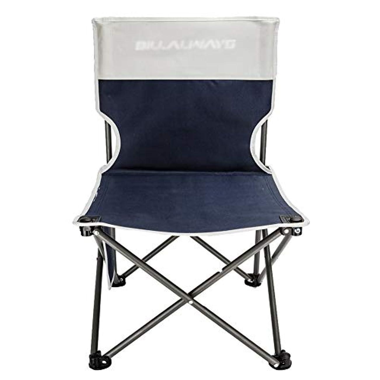 ゲインセイ保持する折りたたみ椅子 キャンプ 折りたたみキャンプチェアブルー、アクティビティ/キャンプ/バーベキュー/ビーチ、積載量100kg / 220ポンドのための携帯用釣りハイキングスツール (サイズ さいず : L l)
