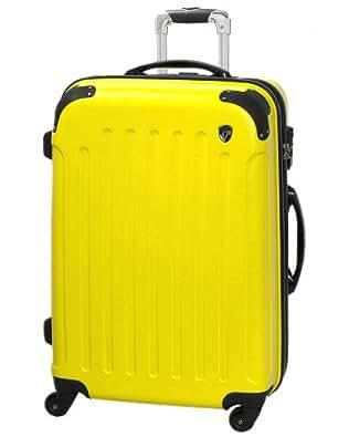 TSAロック搭載 スーツケース キャリーバッグ newFK10371 イエロー S型(4~7日用) マット加工ファスナー開閉タイプ