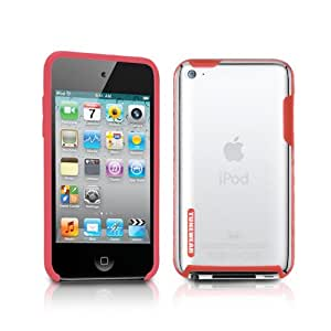 TUNEWEAR 第4世代iPod Touch対応ハードケース TUNESHELL RubberFrame for iPod touch 4G レッド TUN-IP-000136