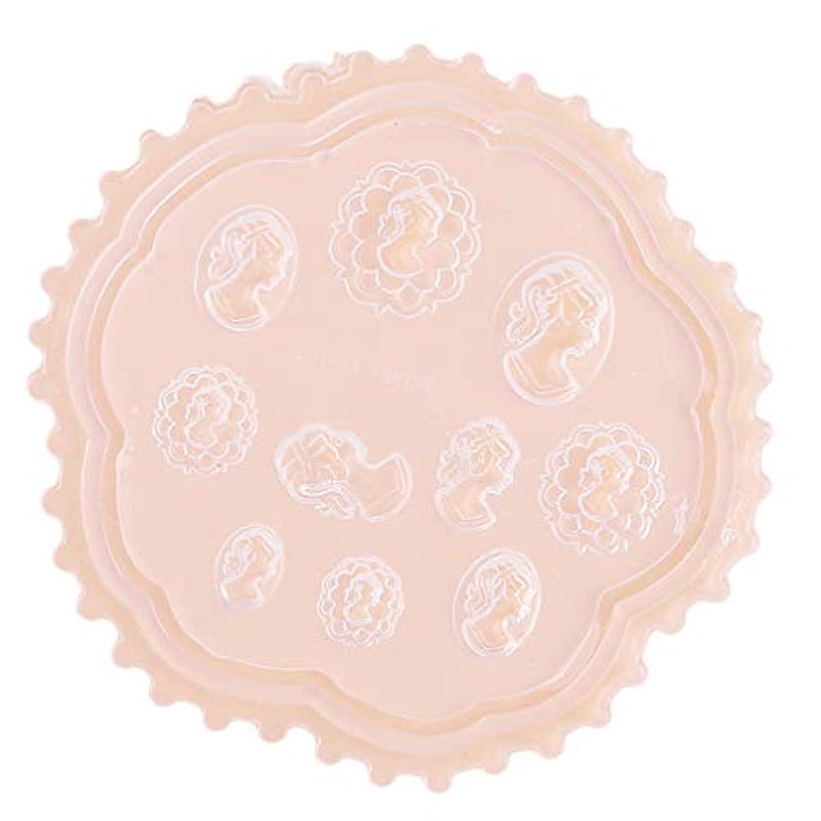 残忍な個人メロディーBEE&BLUE 3Dシリコンモールド ネイル 葉 花 抜き型 3Dネイル用 レジンモールド UVレジン ネイルパーツ ジェル ネイル セット
