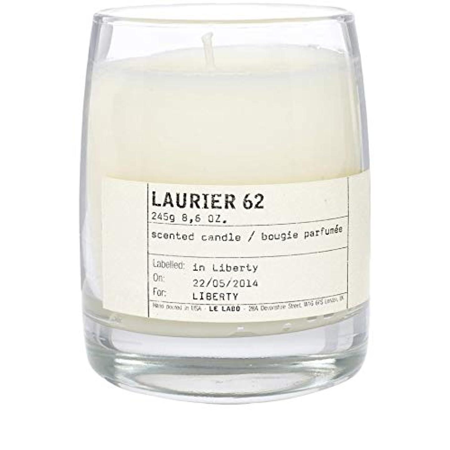 魅力ポスター詩[Le Labo ] ルラボローリエ62古典的なキャンドル - Le Labo Laurier 62 Classic Candle [並行輸入品]