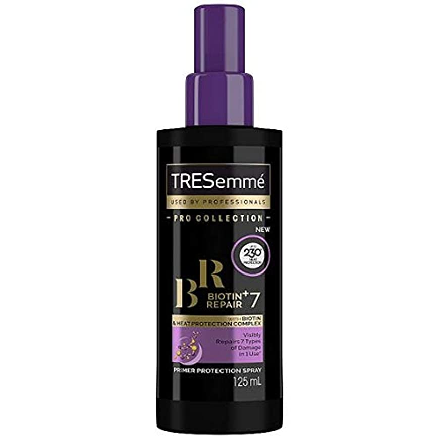 率直なトンネル縞模様の[Tresemme] Tresemmeビオチン+修理7プライマー保護スプレー125ミリリットル - Tresemme Biotin+ Repair 7 Primer Protection Spray 125ml [並行輸入品]