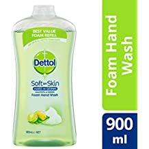 Dettol Touch of Foam Hand Wash Lemon & Lime Anti-Bacterial Refill, 900ml