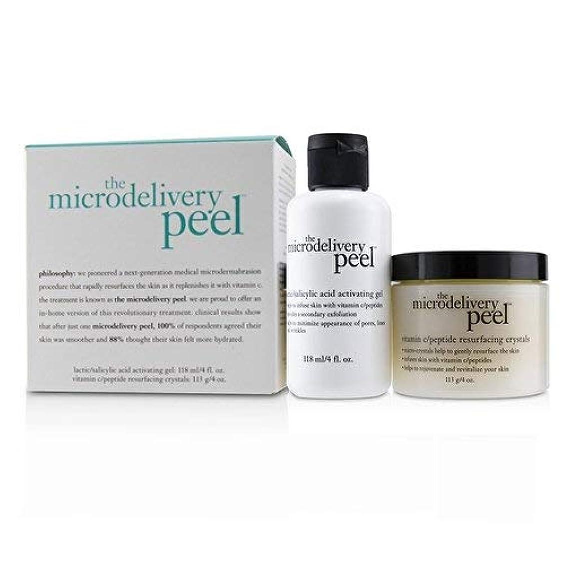 のスコア噴出するキャストフィロソフィー The Microdelivery Peel: Lactic/Salicylic Acid Activating Gel 118ml + Vitamin C/Peptide Resurfacing Crystals...