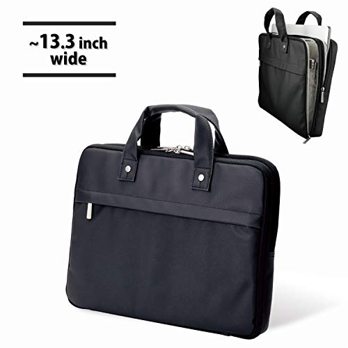5086049965f8 落ち着いた光沢のある上質なコーティング生地を使用した薄型キャリングバッグ。◇パソコンと書類を分けて収納できる、二気室タイプの薄型キャリングバッグです。13.3  ...